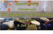 DIY-Aquaponic Vertical Farming-System mit Luft-Druckpumpe