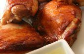 Knusprige Haut zuliebe Huhn mit Ingwer-Sauce