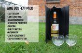 Wein-Box flach-verpacken Sie