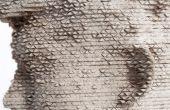 Gipsabdruck vom Laser geschnitten Form