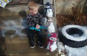 Erstellen einer Miniatur-Schneemann-Kit