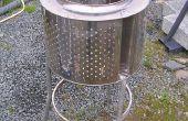 Aus rostfreiem Stahl Garten Verbrennungsanlage - Terrassenheizer aus recycelten Schrott.