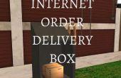 Internet-Bestellung-Lieferung-Box