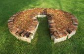 Schlüsselloch Garten mit zurückgefordert Materialien