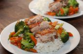 Langsam gegarter knusprige chinesische Schweinebauch