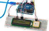 Anzeige von GPS-Position auf einem LCD-Bildschirm