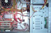 Organisation der Drähte und Kabel im Inneren des Computers