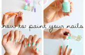 Wie Sie Ihre Nägel malen
