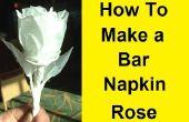 Wie erstelle ich eine Rose mit einer Bar Serviette