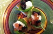 """Beißen Größe Caprese mit Tomaten und Balsamico """"Kaviar"""""""