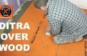 Installieren Sie DITRA auf einem Holz-Unterboden (Haltestelle geknackt Fliesen)