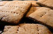 Hausgemachte Graham Crackers mit weißer Schokolade Zuckerguss