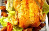 Ofen gebraten Huhn