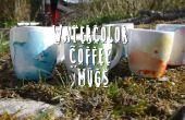 DIY-Aquarell Kaffeetassen