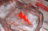 Personalisierte Rucksack; Sprühfarbe & Schablone Stil
