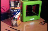 3D-Drucker Filament Spulen mit Kabelbindern zu verwalten