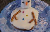Schmelzender Schneemann Cookie