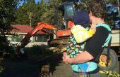 Wie Ihre älteren Kleinkind/Vorschulkind in ein Kleinkind Tula oder andere weiche strukturierte Träger (SSC) oder Schnalle Träger (vordere Carry) tragen