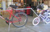Gescheiterten Versuch eine Anhängerkupplung für Fahrrad des Kindes