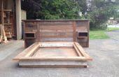 Schrott, Holz-Kopfteil und Plattform-Bett