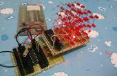 Erweiterbare LED Cube 4 x 4 x 4 Programmbeispiel 8051 mit
