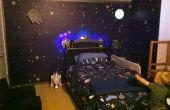 Space Station Dock Schlafzimmer mit aufleuchtenden Raumschiff Bett