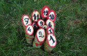 Rustikale Holz finnischen Stil Kegeln Spiel