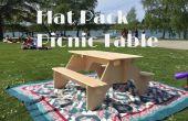 Flach-verpacken Sie Picknick-Tisch aus 1 Stück Sperrholz
