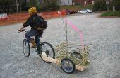 Einfach Holz und Bambus-Fahrrad-Anhänger