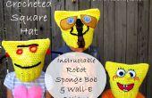 Gehäkelte quadratischer Hut - Instructable Roboter, Sponge Bob & WALL-E