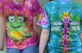 Doppelte doppelseitige Tie-Dye: Frosch & Dragonfly