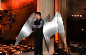 Arduino-kontrollierte, Aluminium Erzengel Kostüm Flügel