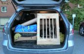 Auto aus Holz Kiste für Hunde