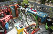 Fahrrad-Generator Patio Möbel hergestellt aus recycelten Materialien w / Spannung reguliert Battery Charging System