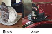 Feuer-Helm-Restaurierung antiker