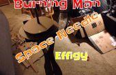 Aufbau einer brennenden Mann Bildnis - Space Needle Edition