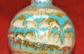 Christbaumkugel mit farbigem Sand