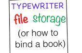Schreibmaschine File Storage (wie ein Buch zu binden)