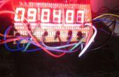 2cm Höhe 7 Segmente 6 Ziffern AVR Uhr mit 4 Ziffern Thermometer