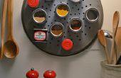 DIY magnetische Spice Rack und Gewürz-Container