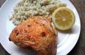 Zitronen-Knoblauch-Hähnchenschenkel