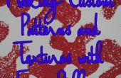 Machen eigene Muster und Texturen mit Schaumstoff Rollen