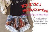 DIY-Shorts mit Nieten und Textilien