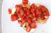 Gebratene Tomaten und Ricotta Crostini