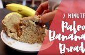 2 minute Paleo Bananenbrot