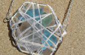 Machen Sie ein Meer Glas Korb Anhänger oder Ohrringe