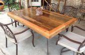 Terrasse Tischplatte hergestellt aus zurückgefordert Deck Holz