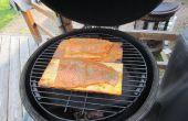 Ahornsirup - Zeder Plank Lachs - Big Green Egg/Kamado Grill