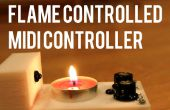 Flamme kontrollierten MIDI-Controller