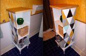 Funky Schrank aus repurposed/gefunden Produkte aus